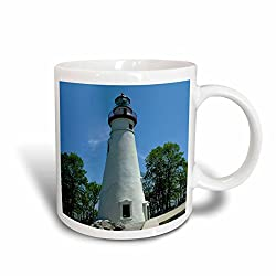 3dRose mug_61708_1 Marblehead Lighthouse Looking Over Lake Erie Ceramic Mug, 11-Ounce