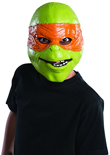 Rubie's Costume Men's Teenage Mutant Ninja Turtles Michelangelo Adult 3/4 Mask