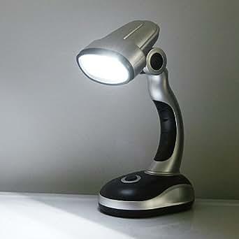 chicho mini 12 led emergency desk lamp battery powered cordless light. Black Bedroom Furniture Sets. Home Design Ideas