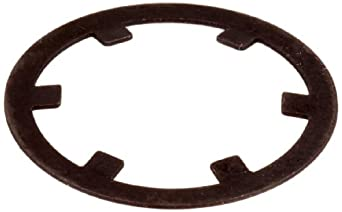 """External Retaining Ring, Self-Locking, Axial Assembly, 1060-1090 Carbon Steel, Plain Finish, 1/2"""" Shaft Diameter, 0.015"""" Thick (Pack of 100)"""