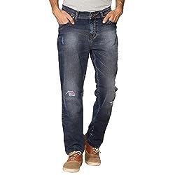 Provogue Men's Asphalt Slim Fit Jeans (8903522454196_103702-BL-024-32_Blue)
