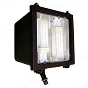 68 Watt Compact Fluorescent Flood Light Fixture - 120/277 Volt - PDD Incorporated FL45F64EL