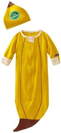 Sozo Unisex-baby Newborn Banana Bunting and Cap Set, Yellow, One Size