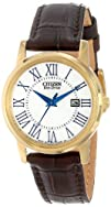 Citizen Womens EW1562-01A Eco-Drive Brown Synthetic Leather Watch