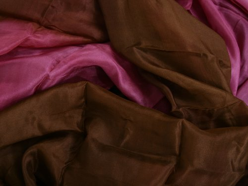 """Chocolate Covered Cherry"" Belly Dance Silk Veil for Belly Dancers"