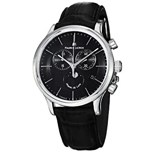 Maurice Lacroix Men's LC1148-SS001331 Les Classiqu Black Chronograph Dial Watch