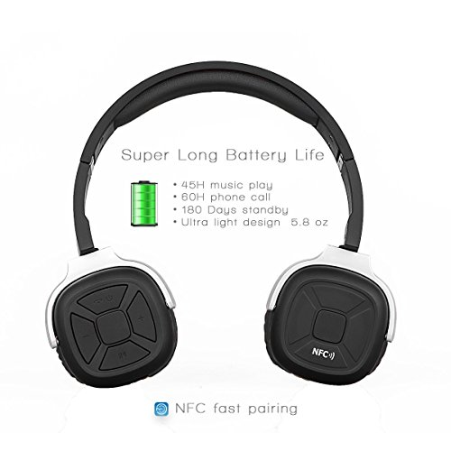 on ear headphones higoing nfc bluetooth 4 1 headset wireless stereo headsets noise cancelling. Black Bedroom Furniture Sets. Home Design Ideas