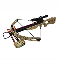 Spider 150 lb Green Camo Compound Crossbow 4x32 Scope Package