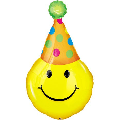 Wholesale Party Hat Smiles Mini Shape Balloon