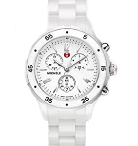 Michele Jetway White Ceramic Watch MWW17J000001 Ceramic bracelet $1195.00