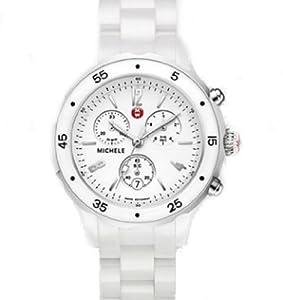 Michele Jetway White Ceramic Watch MWW17J000001 Ceramic bracelet $1195.00