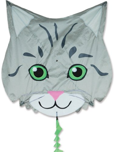 Premier 17346 Fun Flyer Animal Kite with Fiberglass Frame, Tabby Cat
