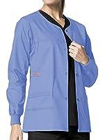 Wink 'WonderFLEX 'Constance' Snap Front Jacket' Scrub Top