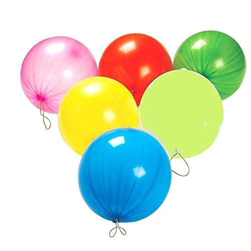 Punch Balloons, Balls - 15 per unit - Assorted Colors - 4E's Novelty