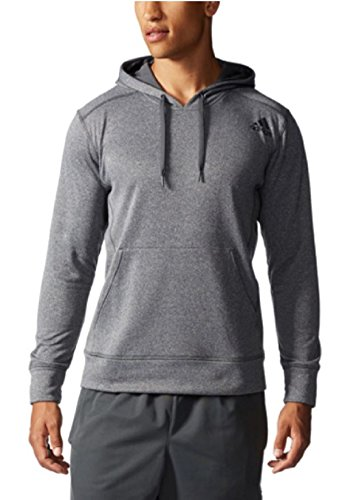 ADIDAS MENS ULTIMATE PULLOVER HOODIE HOODY CLIMAWARM TECH SWEATSHIRT (XX-Large, Dark Grey/Black)