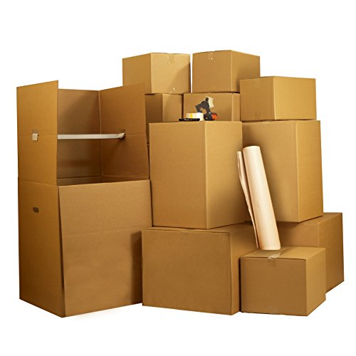 UBOXES 7 Room Wardrobe Kit 84 Moving Boxes & $148 In Packing Supplies