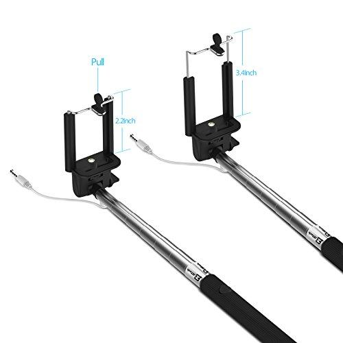 jetech selfie monopiede batteria gratuito selfie stick allungabile controllo cable wireless. Black Bedroom Furniture Sets. Home Design Ideas