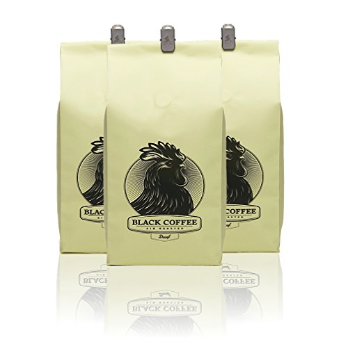Black Coffee La * Decaffeinated * (3-Pack) - 12Oz Bag Of Whole Bean Coffee - Los Angeles, California - Air Roasters