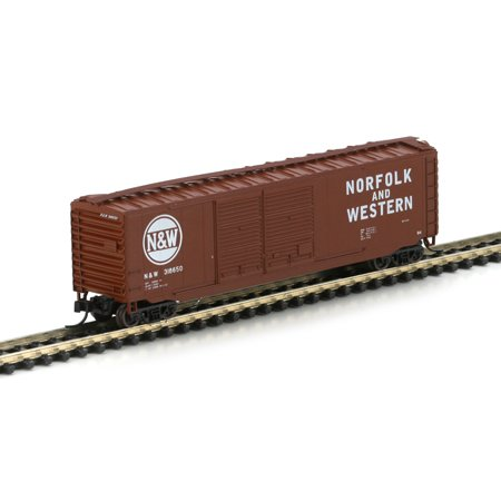N RTR 50' PS-1 Double Door Box, N&W/Brown #1 ATH14151