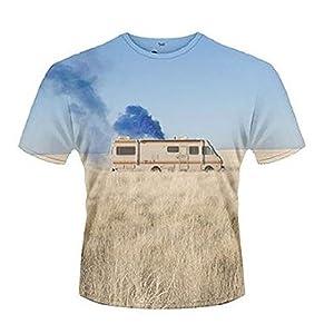 Official T Shirt BREAKING BAD Heisenberg TRAILER Van