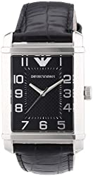 Emporio Armani Men's AR0362 Classic Black Dial and Strap Watch