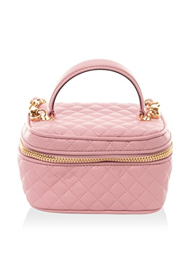 Moschino Women's Quilted Handbag, Pink, Mini