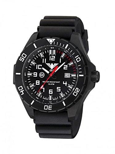 KHS Tactical orologio uomo Landleader Black Steel KHS.LANBS.DB