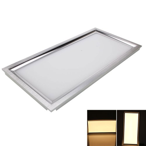 Firekingdom 85-265V 30*60Cm 20W 182Led 2500Lm Warm White Light Smd3014 Panel Light For Shops, Offices And Home Silver White