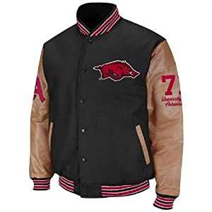 Arkansas Razorbacks Mens Varsity Letterman Jacket by Colosseum