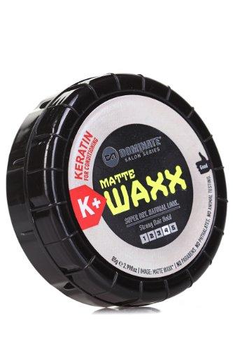 Dominate Salon Series Matte Waxx - Cera per Capelli con Cheratina - Tenuta Forte Fattore 4 - Effetto Super Asciutto Naturale - 85g