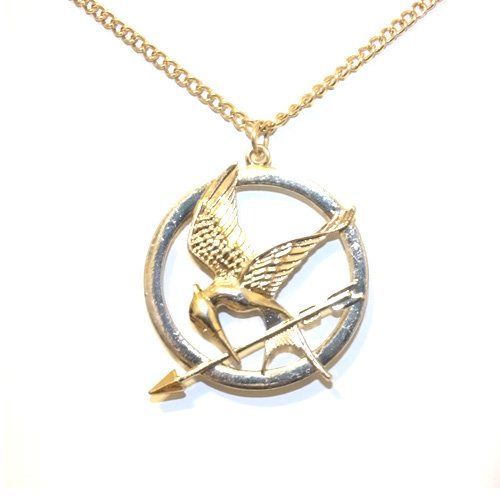 Top Value Jewelry- Beautiful Rose Gold Hunger Games Mocking Jay Pendant Sweater Necklace for Women- Super Cute!!