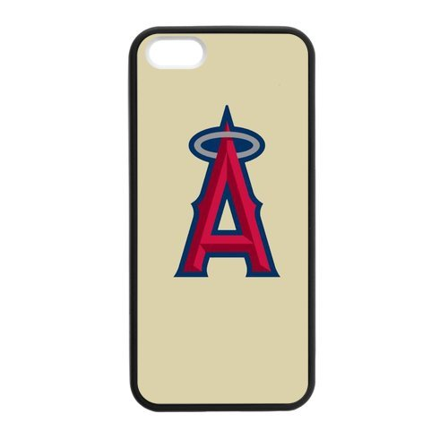 Generic Cell Phone Cases Cover For Apple Iphone 5S Case Iphone 5 Case Fashionable Designed With Baseball Team Los Angeles Angels Background Personalized Case front-890478