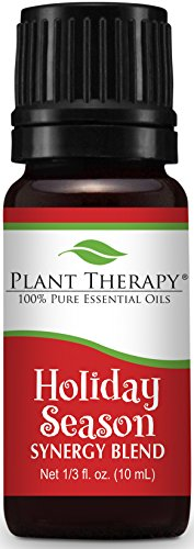 Plant Therapy Holiday Season Synergy Essential Oil Blend. 100% Pure, Undiluted, Therapeutic Grade. Blend of: Sweet Orange, Cinnamon Bark, Ginger and Nutmeg. 10 mL (1/3 Ounce). (Be Young Essential Oils compare prices)