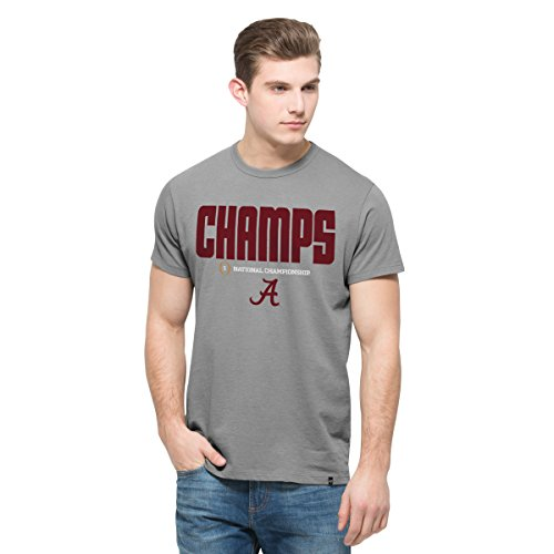 NCAA Alabama Crimson Tide Men's 2015 National Champions Crosstown MVP '47 Flanker Tee, XX-Large, Wolf Grey