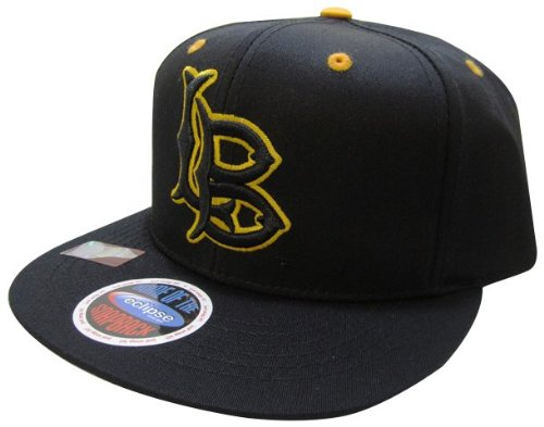 NCAA Long Beach State 49ers Logo Blackout in Gold Style Snapback Hat, Black at Amazon.com