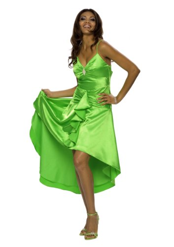 Astrapahl, Luxus Satin Abendkleid, lang, festlich, Farbe grn