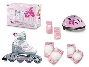 Fila Girls' Inline - Patines en línea para niña, tamaño L(35-38), color blanco rosa