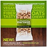 Earnest Eats 100% All-Natural Vegan Chewy Granola Bars with Superfood Grains Quinoa, Oats and Amaranth - Power Grains & Flax - (Case of 5 - 6.2 oz)