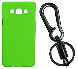 Toppings Hard Case Cover With Matallic KeyChain For Samsung Galaxy J1Ace - Green