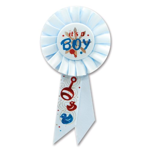 Beistle RS001 It's a Boy Rosette, 31/4 by 61/2-Inch - 1