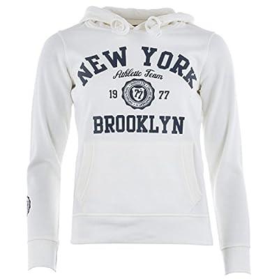 Smith And Jones Damen New York Kapuzenshirt Cremefarben Baumwollmischung