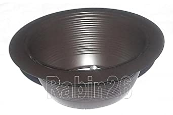 6 Inch Recessed Bronze Brown Ceiling Light Step Trim Baffle And Ring R3