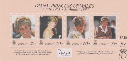 Diana, Princess Of Wales Kiribati 1998 #720 A-D