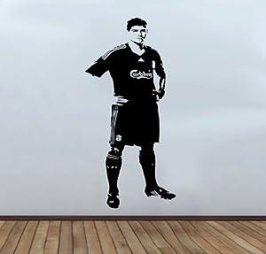 Steven Gerrard Footballer Wall Decal Sticker Large 110cm x 58cm by Wallfrog Graphics
