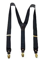 Navaksha Dark Brown Adjustable Suspender