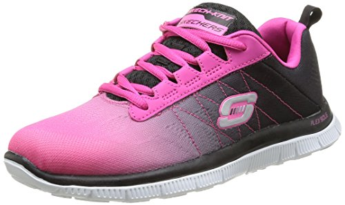 skechers-flex-appeal-new-arrival-womens-trainers-hot-pink-black-6-uk