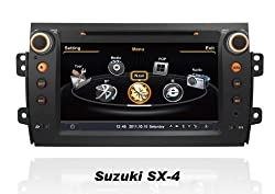 See susay for Suzuki SX-4 Car DVD Player With GPS Navigation(free Map) Audio Video Stereo System with Bluetooth Hands Free, USB/SD, AUX Input, Radio(AM/FM), TV, Plug & Play Installation Details