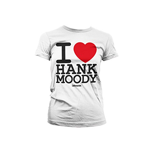 Officially Licensed Merchandise I Love Hank Moody Girly Tee (White), XX-Large