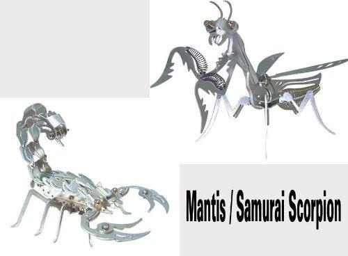 OWI-351/OWI-352 Mega Mantis & Samurai Scorpion Aluminum Kit Combo