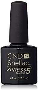 CND Shellac Xpress5 Top Coat, 0.25 fl. oz.